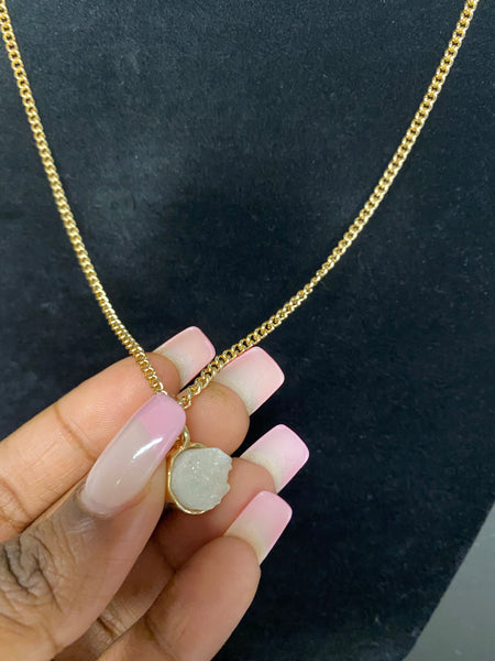 3D Druzy Necklace