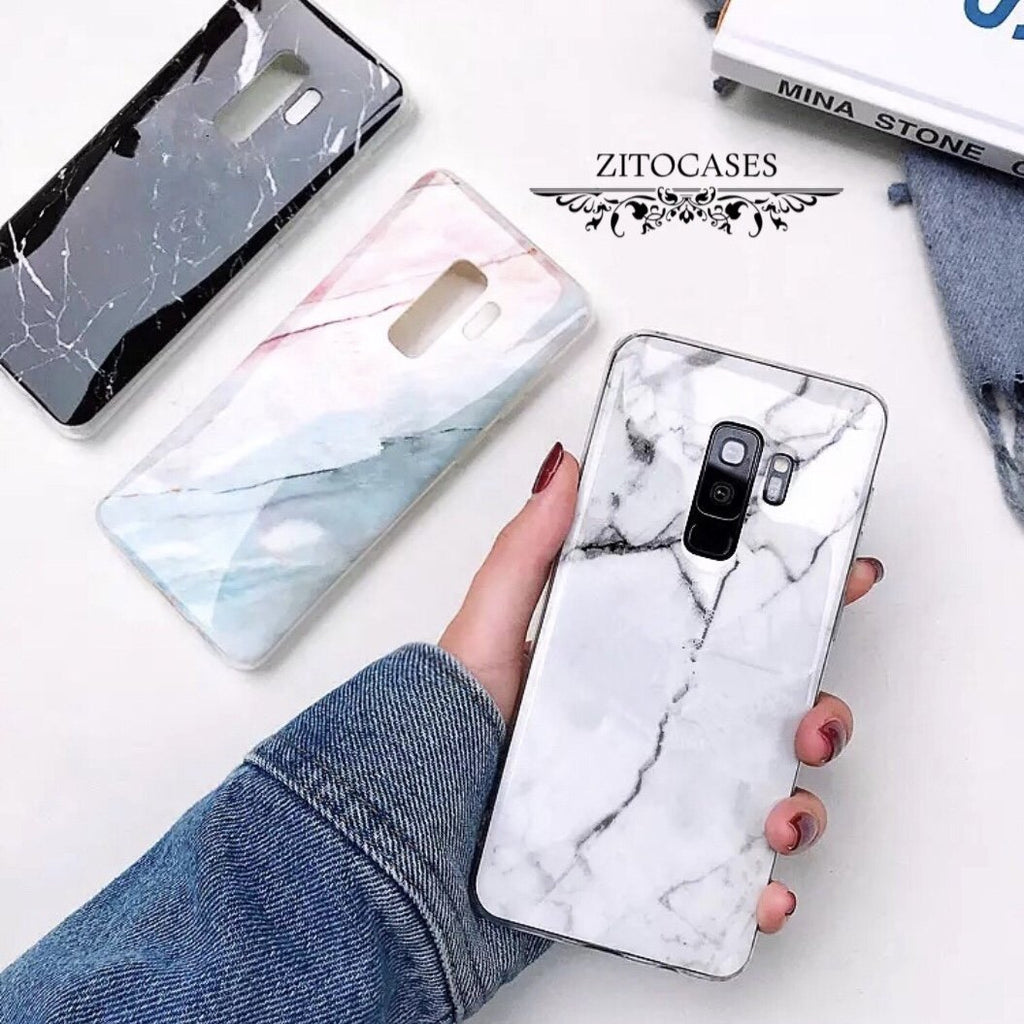 Marmor Optik Soft Hülle/Case für Samsung Galaxy S10, S10 Plus, S10e, S9, S9 Plus, S8, S8 Plus, S7, S7 Edge, Note 10, 10 Plus, 9, 8