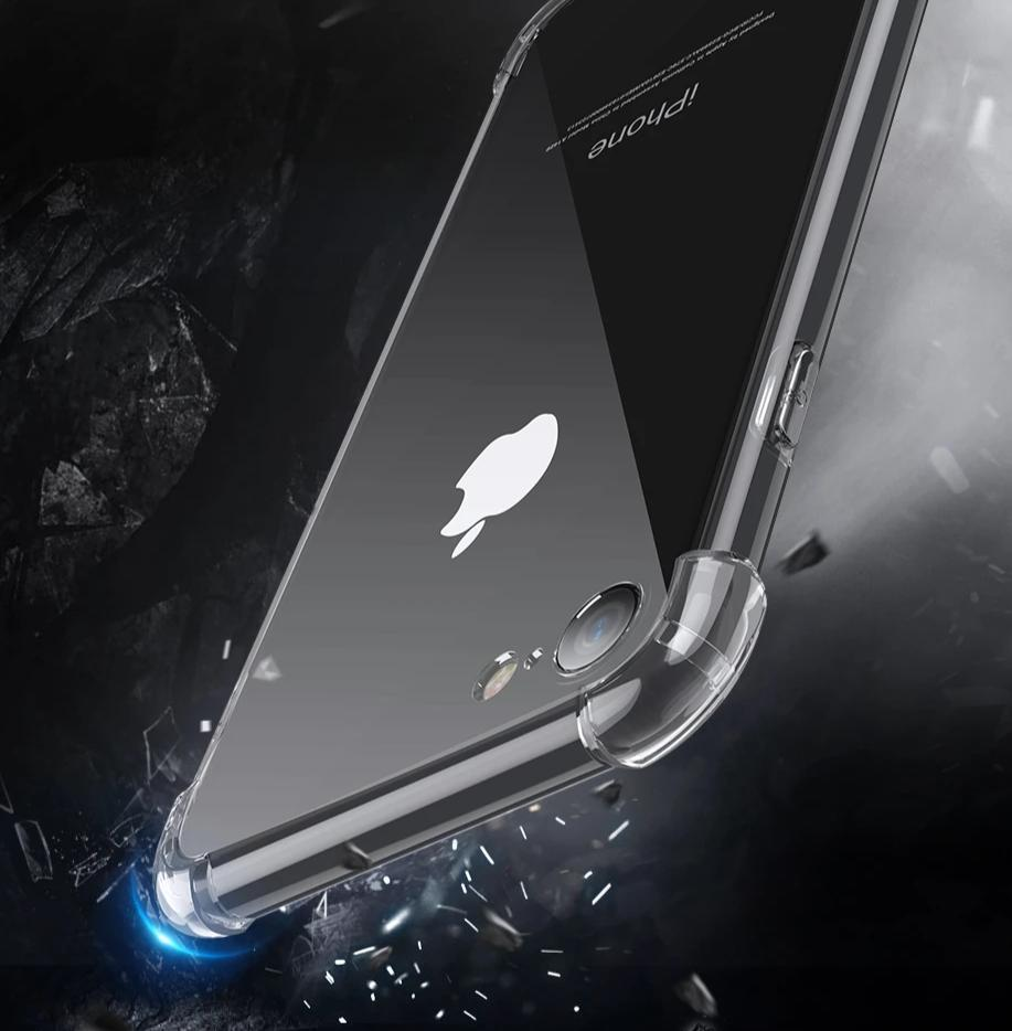 Transparente Airbag Silikon Hülle/Case für IPhone X , IPhone XS, IPhone XS Max, IPhone XR, IPhone 8, IPhone 8 Plus, IPhone 7, IPhone 7 Plus, IPhone 6&6s, IPhone 6, 6s Plus, IPhone SE, IPhone 5