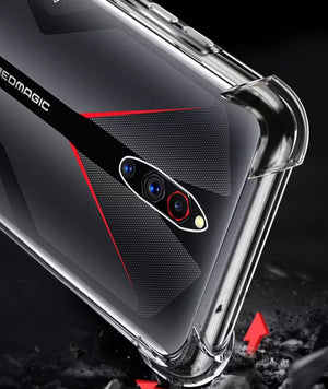Transparente Airbag Hülle/Case für ZTE Nubia X, Red Magic 3, 3S, Axon 10 Pro - ZITOCASES