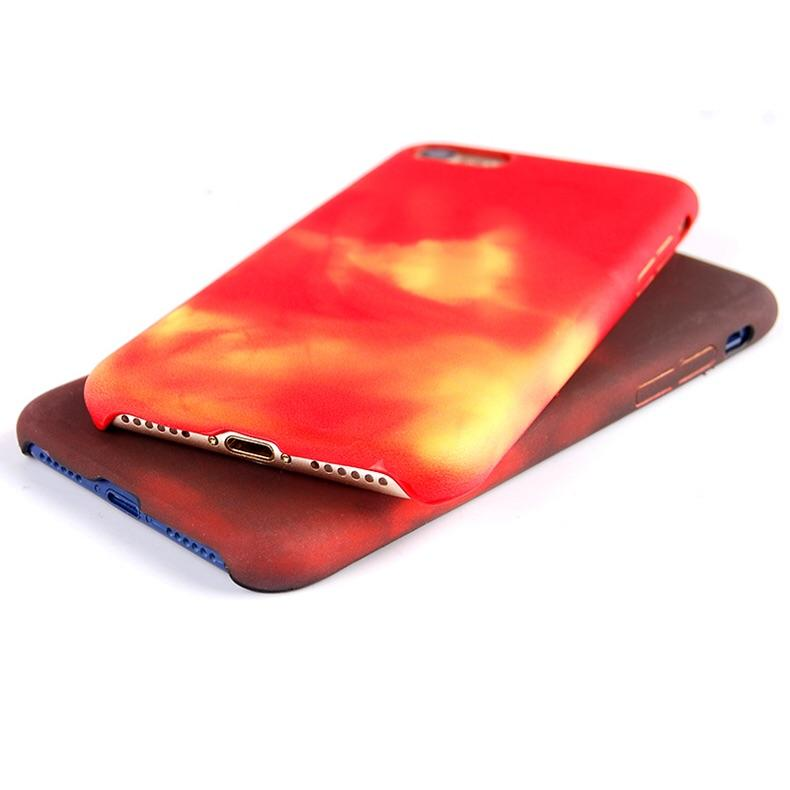 Berührungsempfindliche/Wasserempfindliche Thermo Soft Hülle/Case für IPhone 11, 11 Pro, 11 Pro Max, IPhone X, IPhone XS, IPhone XS Max, IPhone XR, IPhone 8, IPhone 8 Plus, IPhone 7, IPhone 7 Plus, IPhone 6&6s, IPhone 6, 6s Plus, IPhone SE, IPhone 5