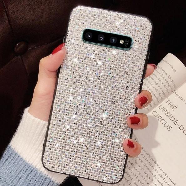 ICED OUT Diamant Glitzer Soft Hülle/Case für Samsung Galaxy S10, S10e, S10 Plus, S9, S9 Plus, S8, S8 Plus, Note 20, 20 Ultra, 9, 8