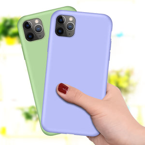 Bunte Silikon Hülle/Case verschiedene Farben für IPhone 11, 11 Pro, 11 Pro Max, IPhone X, IPhone XS, IPhone XS Max, IPhone XR, IPhone 8, IPhone 8 Plus, IPhone 7, IPhone 7 Plus,