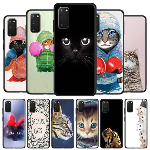 Katzen Motive Soft Hülle/Case für Samsung Galaxy S20, S20 Plus, S20 Ultra, S10, S10e, S10 Plus, Note 20, 20 Ultra