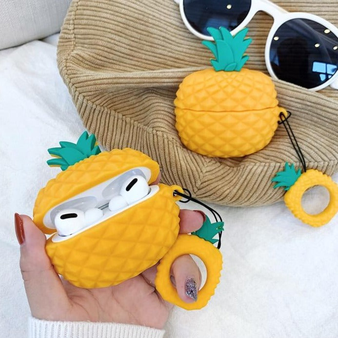 3D Ananas Motiv Silikon Hülle/Case für AirPods Pro - ZITOCASES