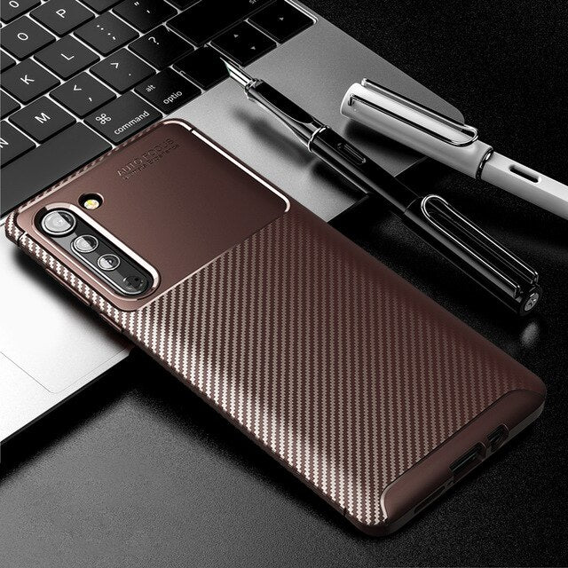 Edle Carbon Soft Hülle/Case verschiedene Farben für Motorola G7 Power, G7 Play, G8, G8 Power, G8 Play, Edge, Edge Plus - ZITOCASES