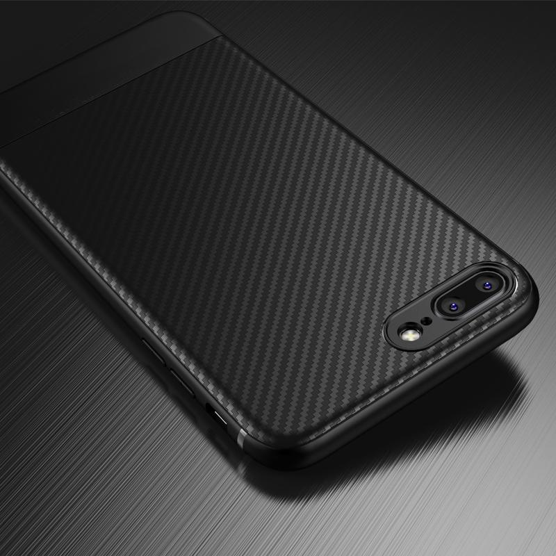Carbon Optik Hülle/Case für IPhone 11, 11 Pro, 11 Pro Max, X, XS, XS Max, XR, 8, 8 Plus, 7, 7 Plus, 6, 6 Plus, 6s, 6s Plus