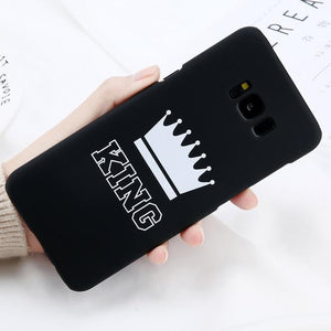 King & Queen Hülle/Case für Samsung Galaxy S20, S20 Plus, S20 Ultra, S10, S10 Plus, S10e, S9, S9 Plus, S8, S8 Plus, S7, S7 Edge, Note 10, 10 Plus, 9, 8