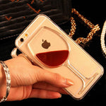3D Liquid Weinglas Hülle/Case für IPhone 11, 11 Pro, 11 Pro Max, IPhone X, IPhone XS, IPhone 8, IPhone 8 Plus, IPhone 7, IPhone 7 Plus, IPhone 6&6s, IPhone 6, 6s Plus, IPhone SE, IPhone 5