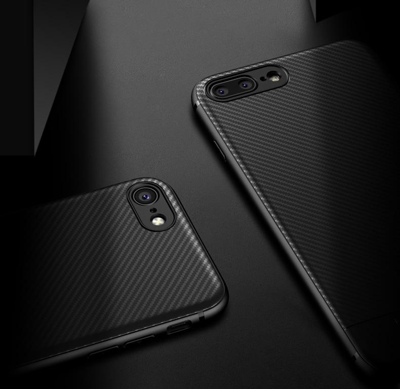 Carbon Optik Hülle/Case für IPhone X , XS, XS Max, XR, IPhone 8, IPhone 8 Plus, IPhone 7, IPhone 7 Plus, IPhone 6&6s, IPhone 6,6s Plus