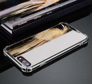 Spiegel Silikon Hülle/Case verschiedene Farben für IPhone 11, 11 Pro, 11 Pro Max, IPhone X, IPhone XS, IPhone XS Max, IPhone XR, IPhone 8, IPhone 8 Plus, IPhone 7, IPhone 7 Plus, IPhone 6&6s, IPhone 6, 6s Plus