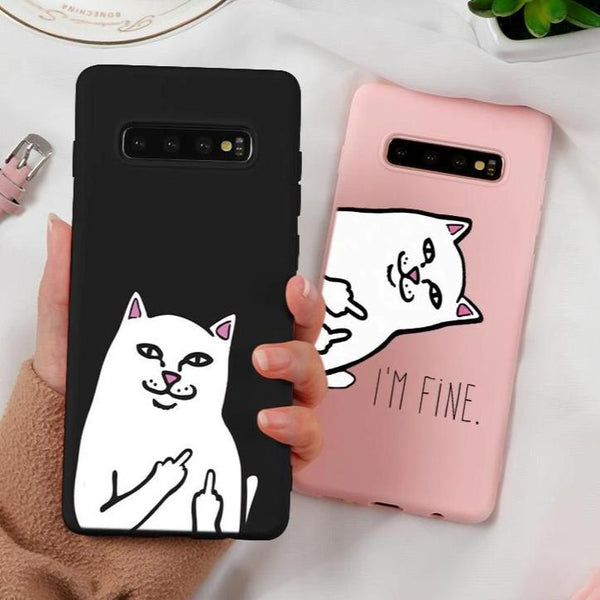 Cartoon/Meme Soft Hülle/Case für Samsung Galaxy S10, S10e, S10 Plus, S9, S9 Plus, S8, S8 Plus, S7, S7 Edge, Note 20, 20 Ultra, 8, 9, A10, A20, A30, A40, A50, A60, A70, M20, J4, J4 Plus, J5, J7