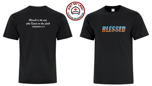 BLESSED image on Men's & Women's Unisex T-Shirt