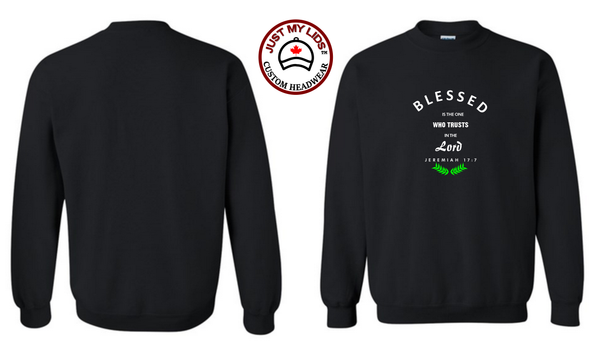 BLESSED image Printed on Men's & Women's Unisex Crewneck Sweatshirt Style #2