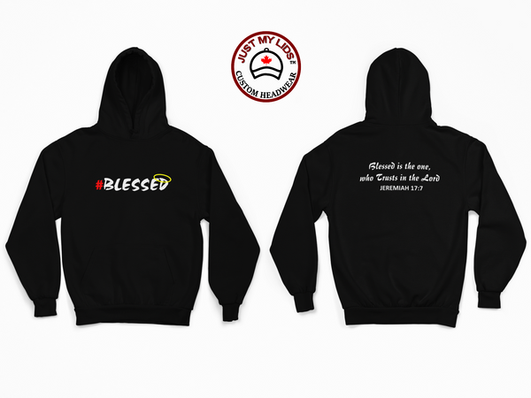 BLESSED image on Men's & Women's Unisex Hoodie Style #3