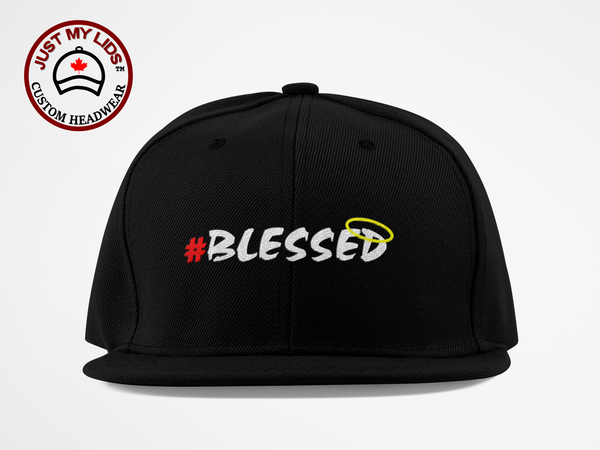 BLESSED image Embroidered on Classic Snapback hat Style #3