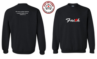 FAITH image Embroidered on Men's & Women's Unisex Crewneck Sweatshirt