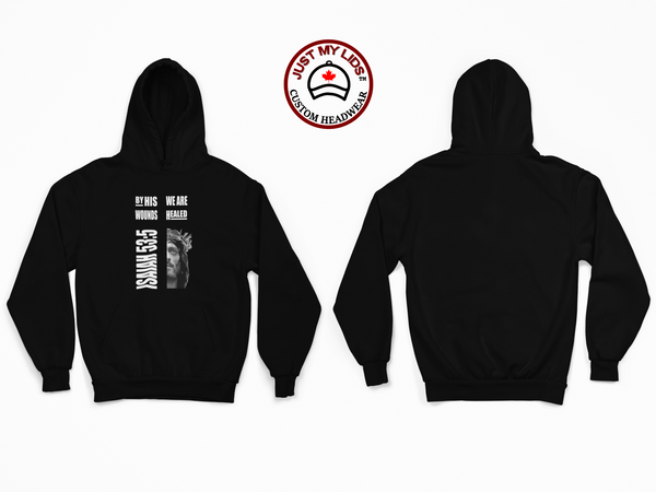 ISAIAH 53:5 by His Wounds - Unisex Pullover Hoodie