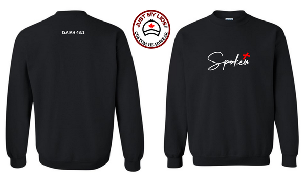 SPOKEN image Printed on Men's & Women's Unisex Crewneck Sweatshirt Style #1