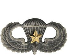 Combat Parachutist 5th Award Basic Silver-Ox Regular Size Army Badge | Sold Individually
