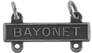 Bayonet Silver-Ox Qualification Bar