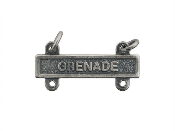 Grenade Silver-Ox Army Qualification Bar | Sold Individually