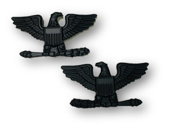 Colonel Eagle with Wheat Sta-Black Insignia Pin | Sold in Sets of 2 as Pictured