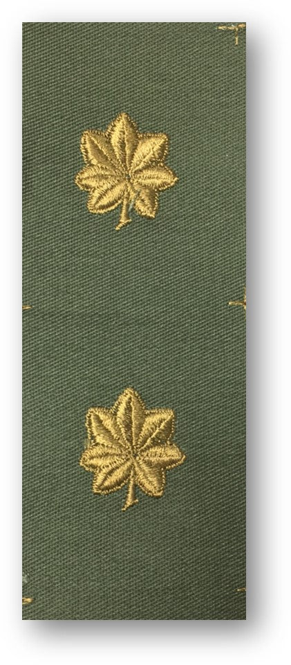 Major Rank Sew On Subdued Insignia | Sold in Set of 2 as pictured