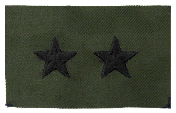 Major General Point to Point Sew On Subdued Army Rank Insignia | Sold in Set of 2 as Pictured