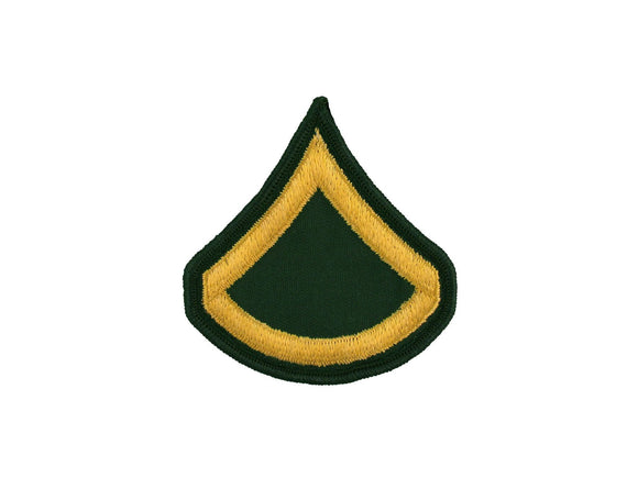 Private First Class Sew On Gold on Green Male Army Rank Insignia