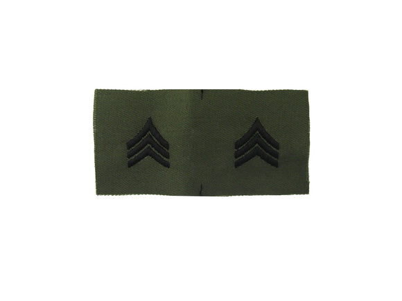 Sergeant Army Rank Insignia Sew On Subdued Fatigue