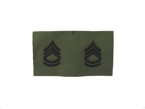 Sergeant First Class Army Rank Insignia Sew On Subdued Fatigue | Sold In Pairs
