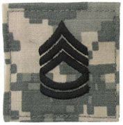 Sergeant First Class Army Rank Insignia Hook and Loop | Sold Individually