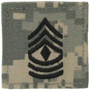 First Sergeant Army Rank Insignia Hool and Loop | Sold Individually
