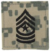 Sergeant Major Army Rank Insignia Hook and Loop | Sold Individually
