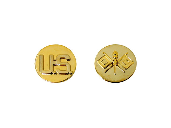 ARMY BRANCH OF SERVICE, STA-BRITE, US & SIGNAL ENLISTED | Sold in Set of 2 as pictured