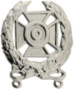 Expert Shooting Silver-Ox Regular Size Army Badge