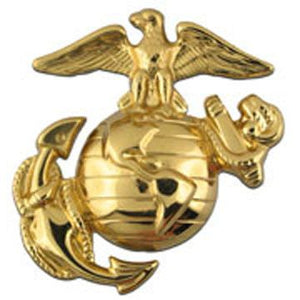 Enlisted Dress Marine Corps Cap Device Polished Brass
