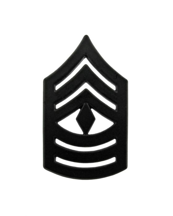 First Sergeant Marine Corps Chevron Sta-Black