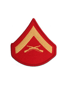 Lance Corporal Gold and Red Marine Corps Chevron Female | Sold in Set of 2