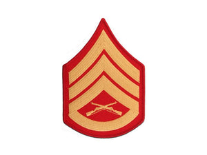 Staff Sergeant Gold and Red Marine Corps Chevron Male | Sold in Set of 2