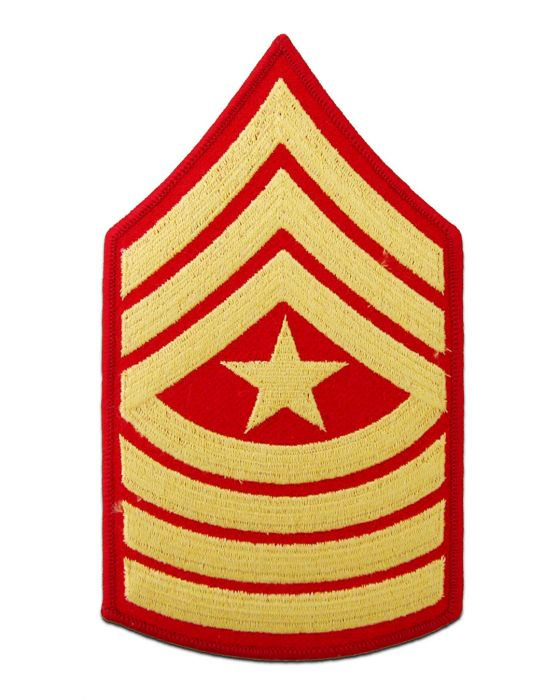 Sergeant Major Gold and Red Marine Corps Chevron Male | Sold in Set of 2
