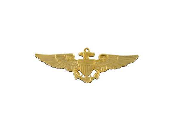 NAVY BADGE, AVIATOR, GOLD PLATED | Sold Individually