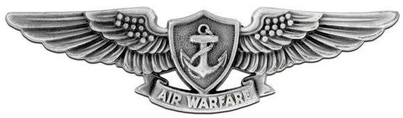 Aviation Warfare Specialist Silver-Ox Navy Badge | Sold Individually