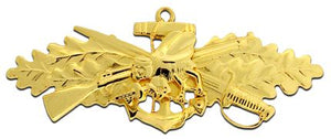 Seabee Combat Warfare Officer Gold Plated Navy Badge | Sold Individually