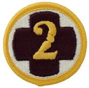 2nd Medical Brigade Regular | Full Color Embroidered Sew On Patch | Sold individually