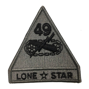 49TH Armor Division Lonestar ACU Army Patch with Hook Fastener