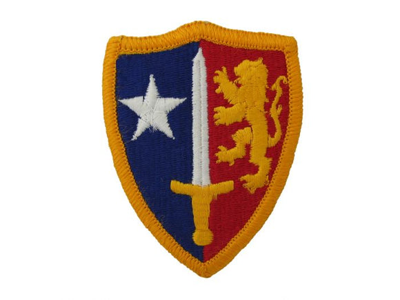NATO Army Patch Regular | Full Color Sew On Patch Red Gold Blue White | Sold Individually