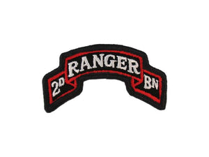 75th Ranger 2nd Battalion Color Army Tab Scroll | Full Color Sew On Patch | Sold Individually
