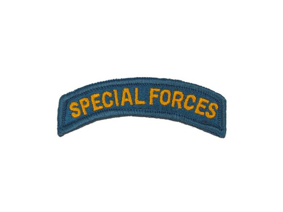 Special Forces Color Army Tab | Full Color Sew On Tab Patch | Sold Individually